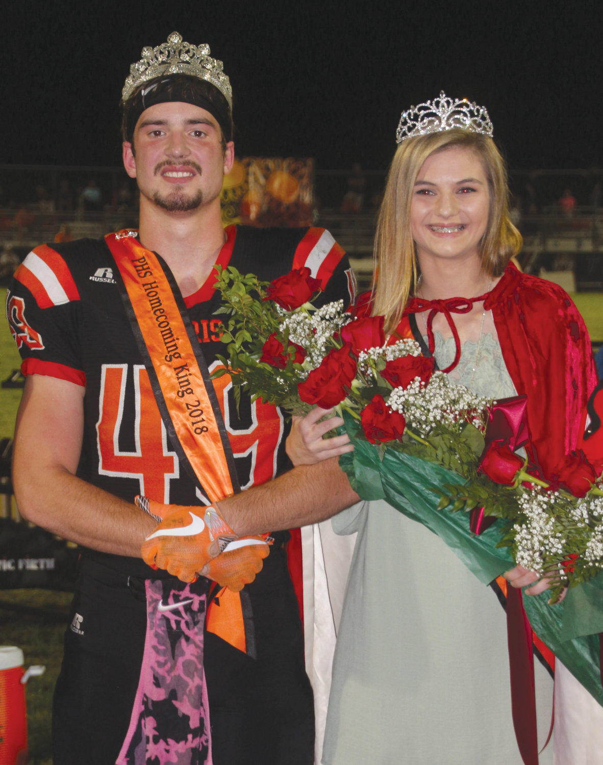 Crowned king and queen of the 2018 Paris High School homecoming celebration were seniors Cooper Block and Brooklyn Westerfield. They will reign over Saturday's annual homecoming dance, climaxing a week of activity that included class games, lunch on the lawn and Power Puff games.