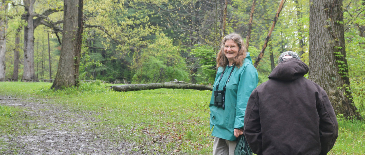Joy Turner leads nature walks in Blackhawk Park the first Saturday of each month, regardless of weather conditions. She has been doing this for eight years, and the walks are free.
