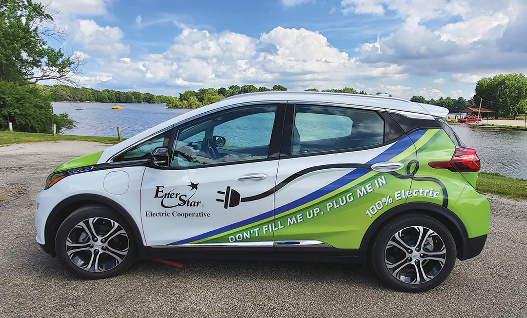 The total electric Chevrolet Bolt, now part of the EnerStar fleet of vehicles, was featured during a Dine and Drive event hosted by the electric cooperative Thursday, June 27. The cooperative is offering a special rate for members who purchase an electric vehicle.