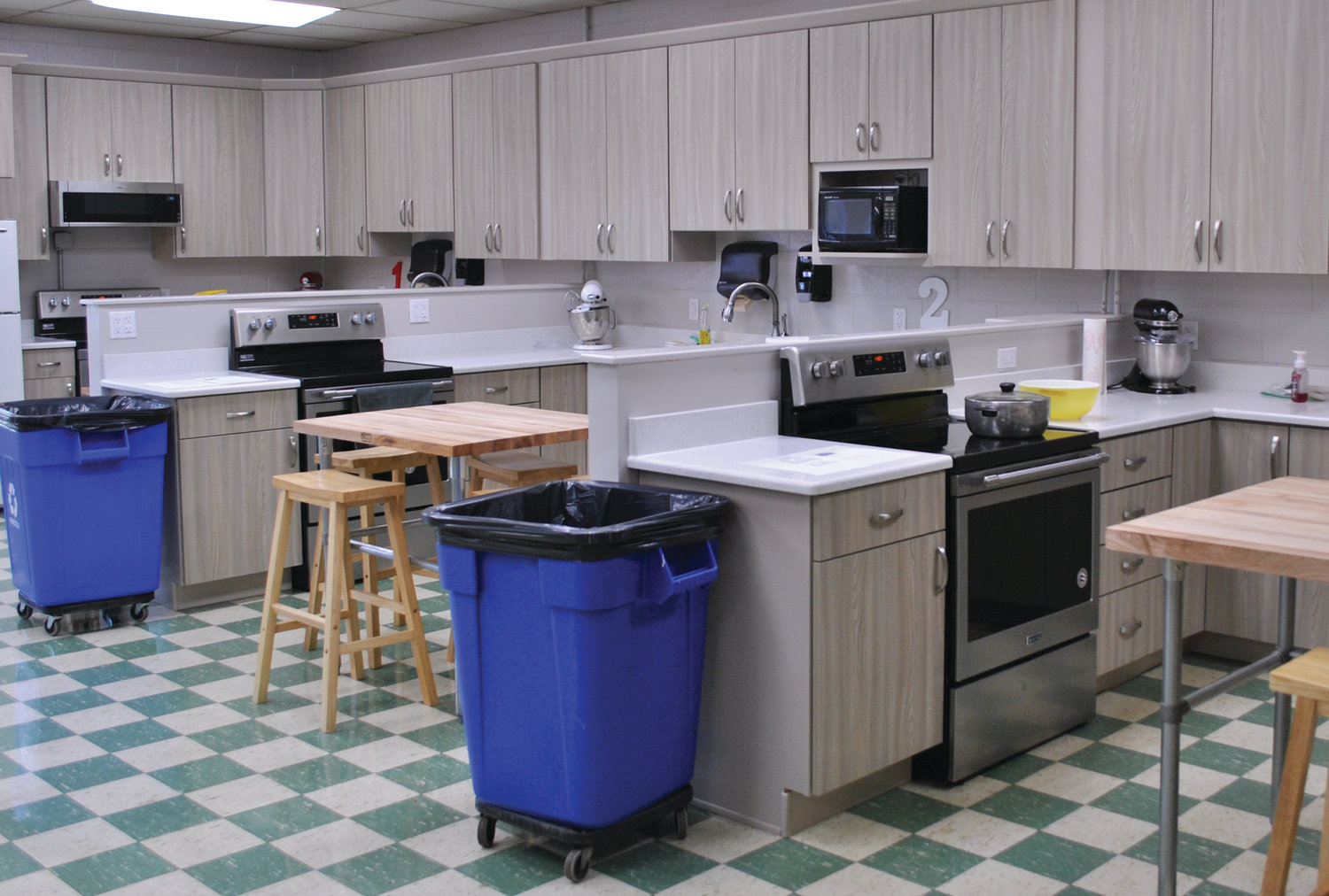 Shiloh High School's revamped Family and Consumer Sciences classroom is equipped with new cabinetry, quality appliances and sturdy tables thanks to the 1 percent facilities tax and an $1,800 grant from the ECCF. Students and school organizations have already made use of the new cooking space.
