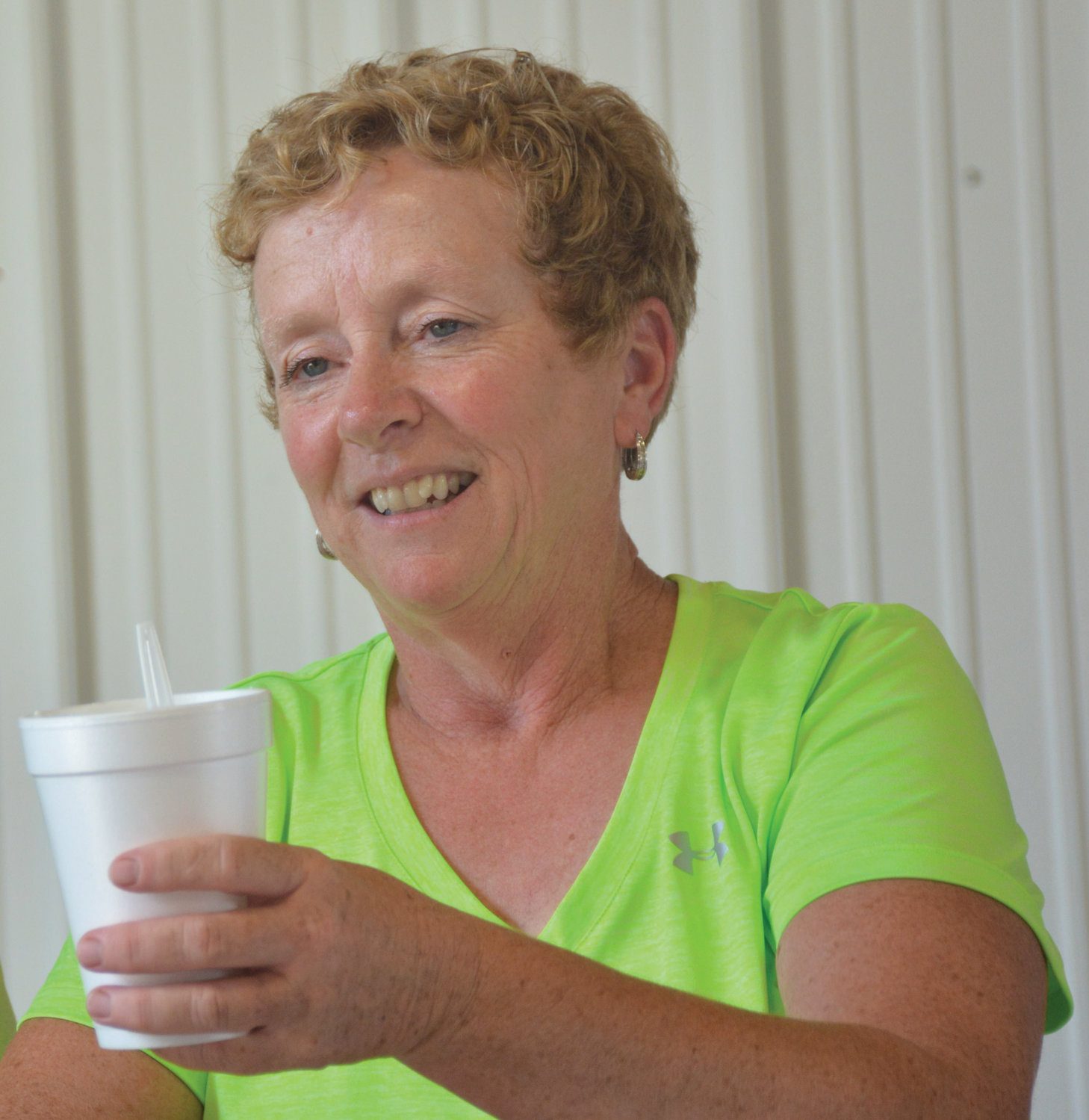 Linda Hart-Murphy serves her homemade goat's milk ice cream following the goat show at the 2016 4-H Fair.  Today is National Milk Day and humans have been keeping milk producing animals like goats, sheep, cattle, camels, donkeys and even horses since the late Stone Age.