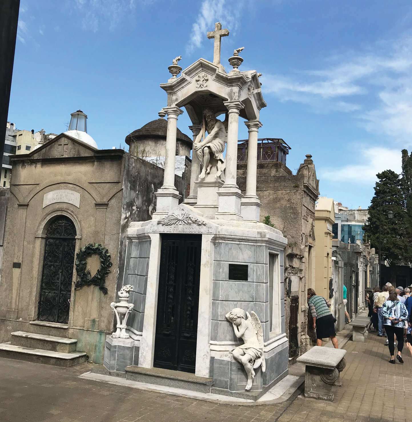 The ornate La Recoleta Cemetery at Buenos Aires, Argentina, is the final resting place of many prominent citizens of the nation.
