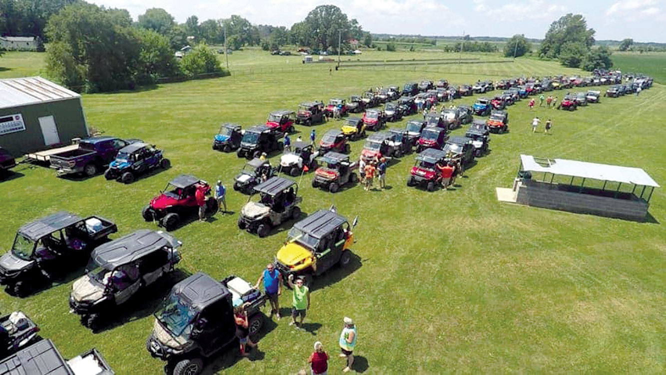 It was quite a lineup of UTVs at the Friends of Edgar County Law Enforcement fundraiser Saturday, July 18. UTVs from throughout the county and the area participated in the four-hour drive through southeastern Edgar County.