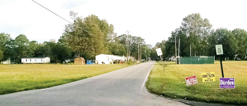 This two-block stretch of South Church Street, from Franklin to Hillsboro streets, is set to have sidewalks constructed on the east side of the street.