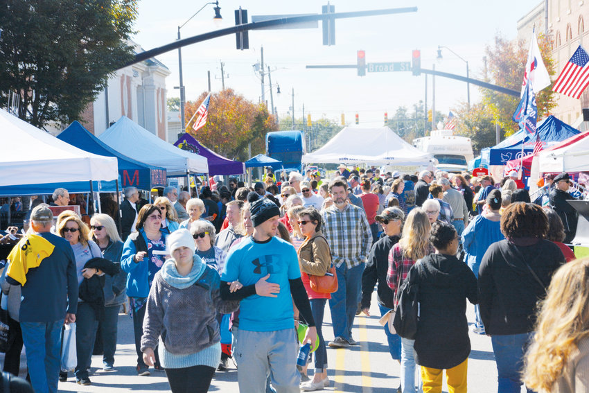 Broad Street held thousands of people at the North Carolina Cotton Festival in Dunn in 2019.