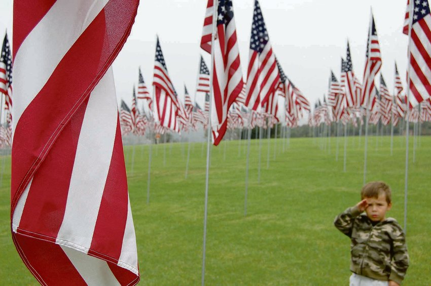 A young boy salutes the American flag. Harnett County commissioners will honor Gold Star Mothers and Families at 6 p.m. Monday, Sept. 20, during the Harnett County Board of Commissioners meeting.
