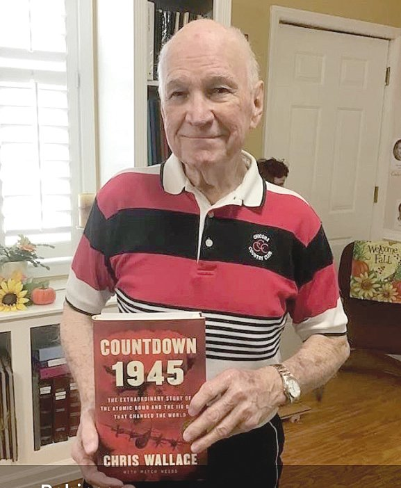 Eddie Vaughan visited the Coats Museum last week to present a copy of 'Countdown to 1945' by Chris Wallace in memory of Joe Tart to the museum.