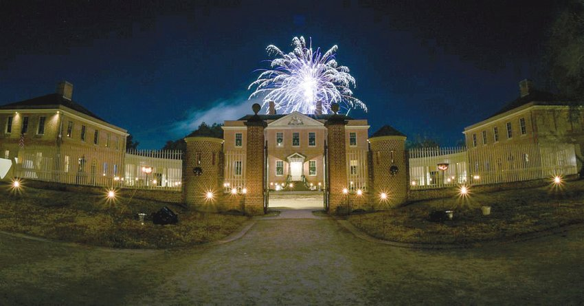Tryon Palace will welcome the holiday season and the coming New Year with a black-powder fireworks display from the South Lawn, on Saturday, Dec. 19 at 7 p.m.