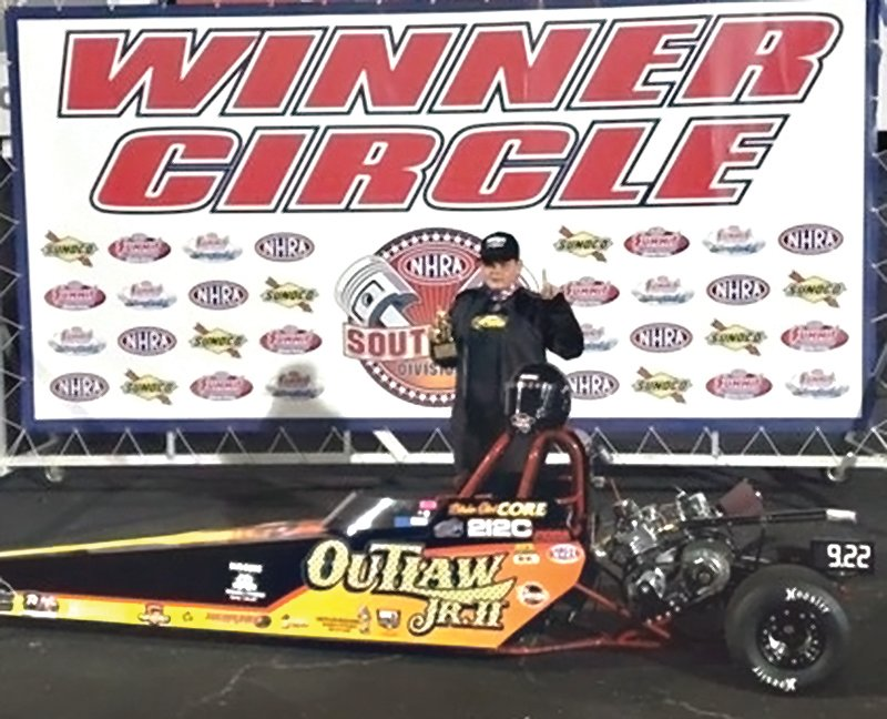 Benson Middle School student Bladen Core was recently named the 2020 NHRA Southeast Division 2 National Open Series champion, beating out junior dragster racers from across the nation.