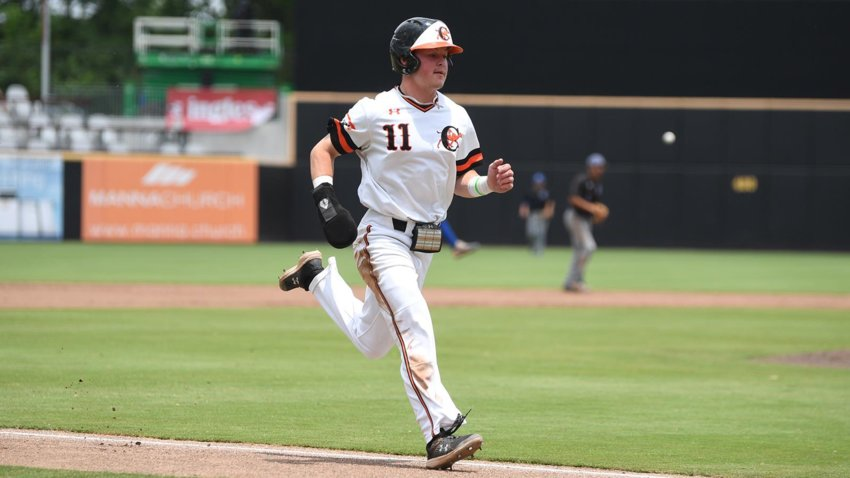 Campbell's Bryce Arnold homered and finished the day 3-for-4 in the loss to Presbyterian at SEGRA Stadium on Saturday.