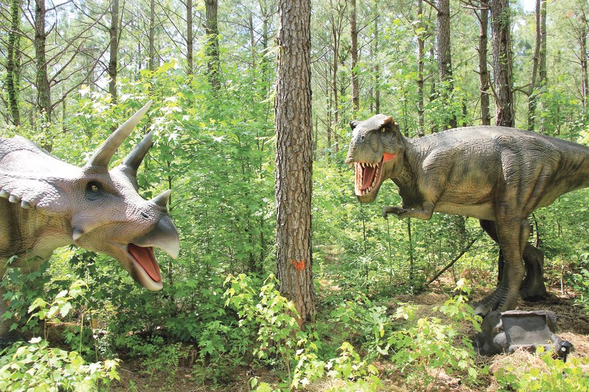 These are some of the animatronic dinosaurs set to be on display at Dinosaur World starting June 9.