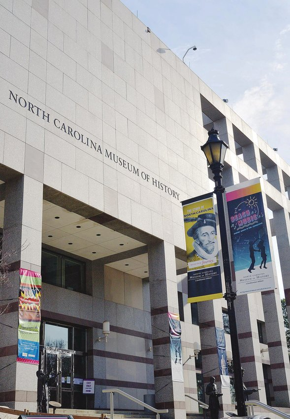 The North Carolina Museum of History is located at 5 E. Edenton St., Raleigh.