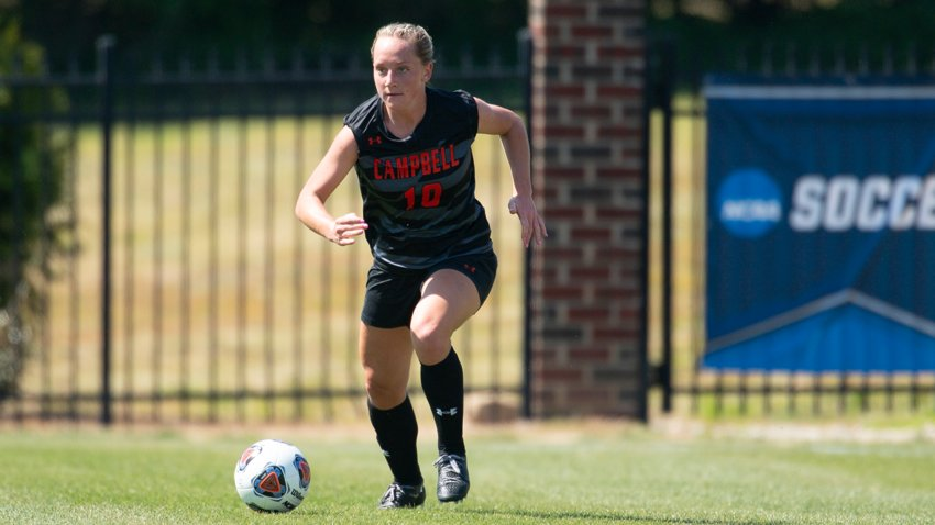Campbell's Laney Peabody earned top defender honors in this year's preseason voting for the upcoming Big South Conference women's soccer season.