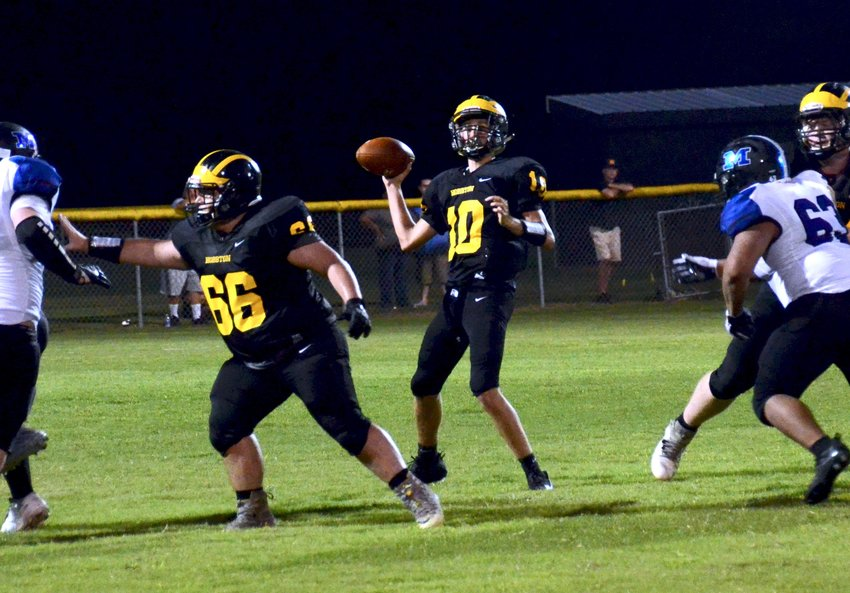 Hobbton quarterback Loden Bradshaw was named Daily Record Player of the Week for Aug. 23-28 after collecting 15 touchdown passes during that span.