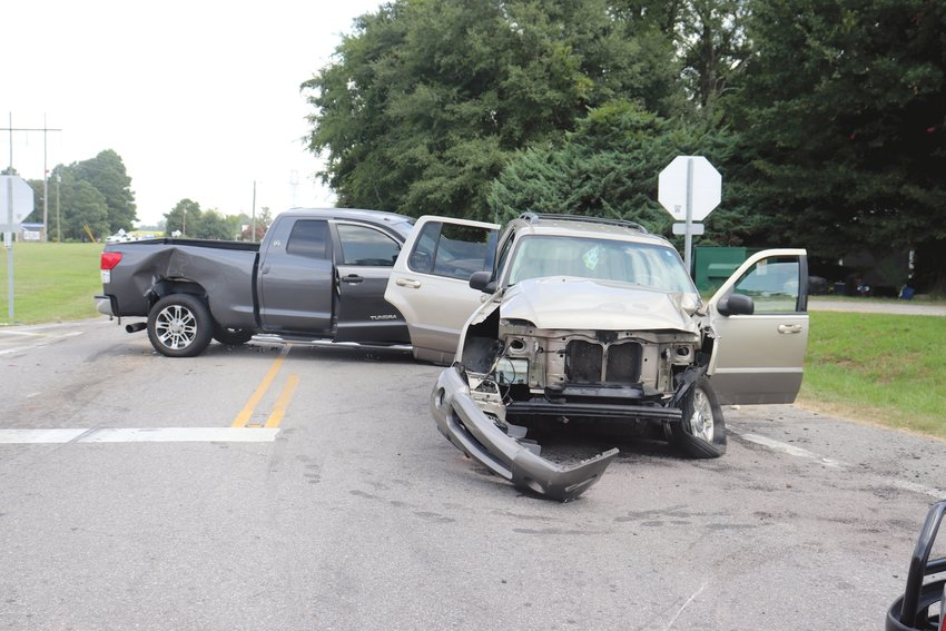 Troopers are investigating a three-vehicle collision at Red Hill Church Road and Ashe Avenue. The wreck involved a truck, SUV and a sports car.