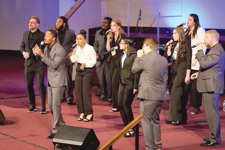 Mount Olive's acapella group, Carolina Sound, has released a new CD that features a mix of original selections, current modern worship tunes, and some older songs that the group has put their own spin on.
