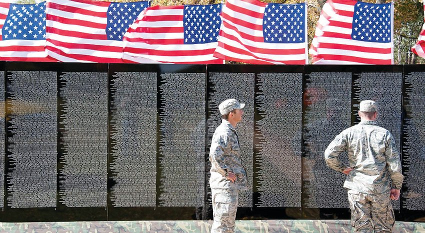 The Moving Wall, a half-size duplicate of the Vietnam Veterans Memorial in Washington, D.C., will be open to the public Sept. 16-20. It will be escorted to Wayne Community College on Sept. 15.