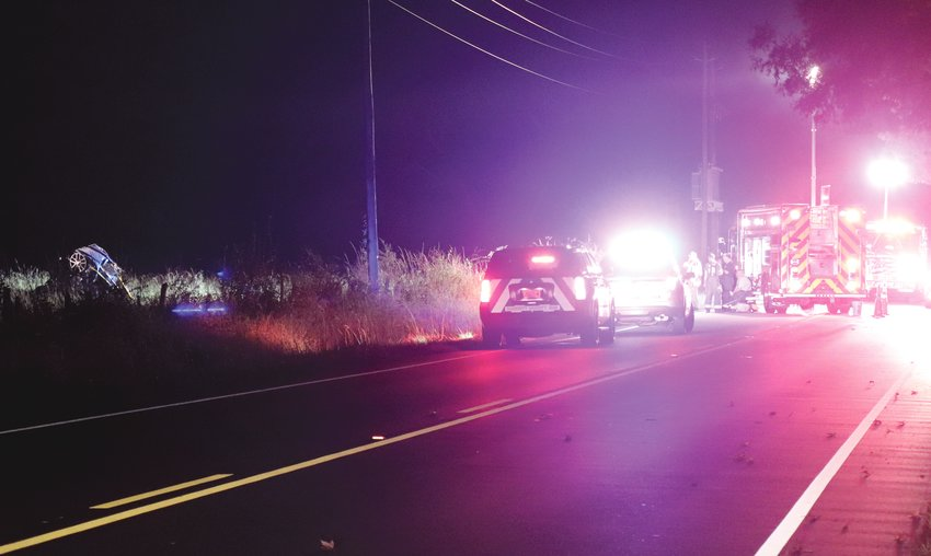 First responders investigate a fatal wreck on N.C. Highway 217. A car was found crashed in a field.