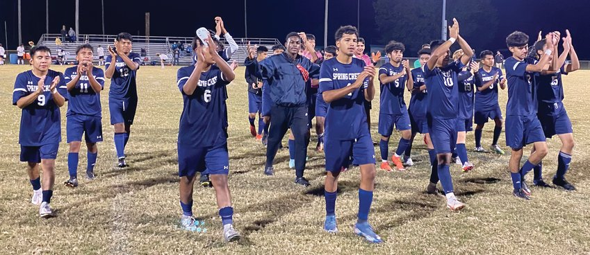 Spring Creek claimed the Neuse Six 2A boys' soccer title with a 4-0 victory over Goldsboro on Tuesday evening.