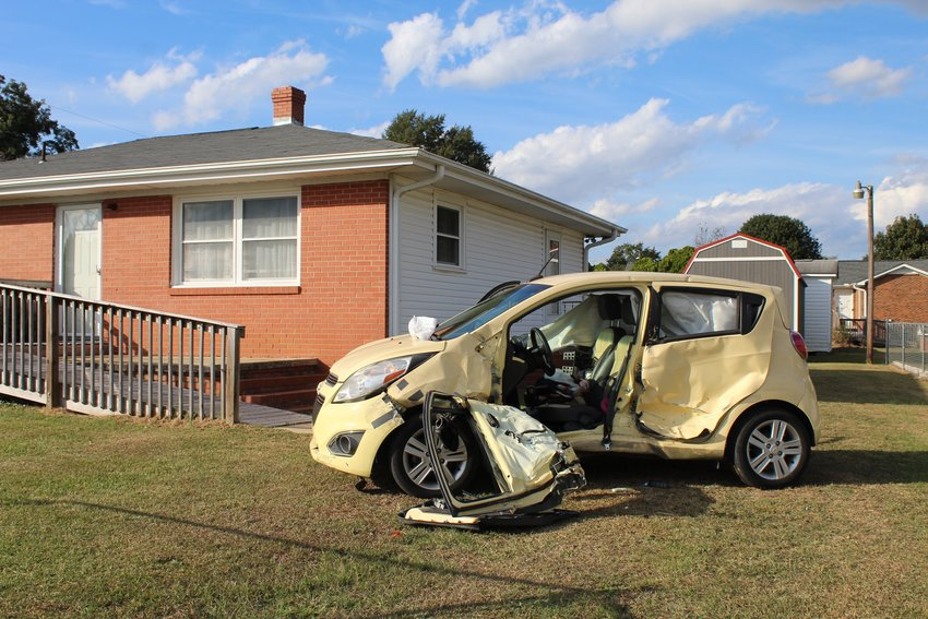 A woman had to be extricated from her vehicle Friday afternoon following a two car wreck on Antioch Church Road.