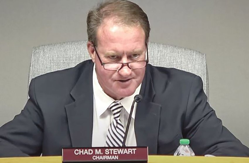Chad Stewart, chairman of the Johnston County Board of Commissioners, has announced his resignation.