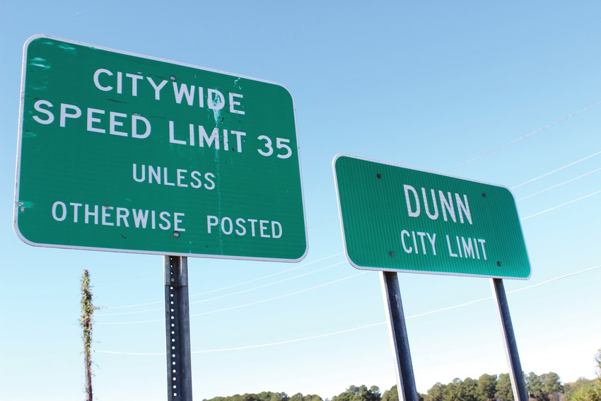 The citywide speed limit in Dunn is 35 mph, but that could change on some streets.