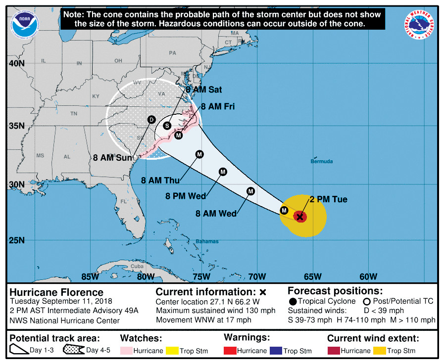 County Officials Prepare For Hurricane Florence The Daily Record