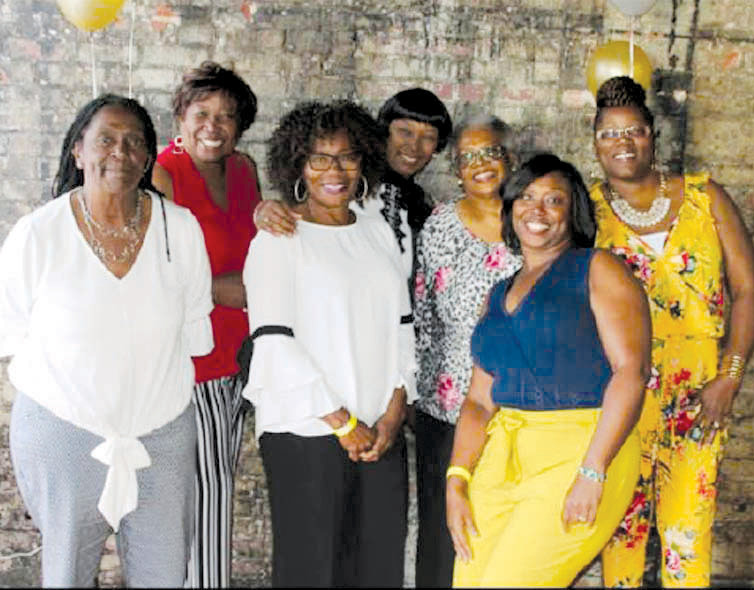 Pictured from left are Mary Hicks, Sylvia Hunter, Gail McKoy, Barbara McKinnon, Linda Carroll, Katrina McCormick and Lisa Williams-Parker.