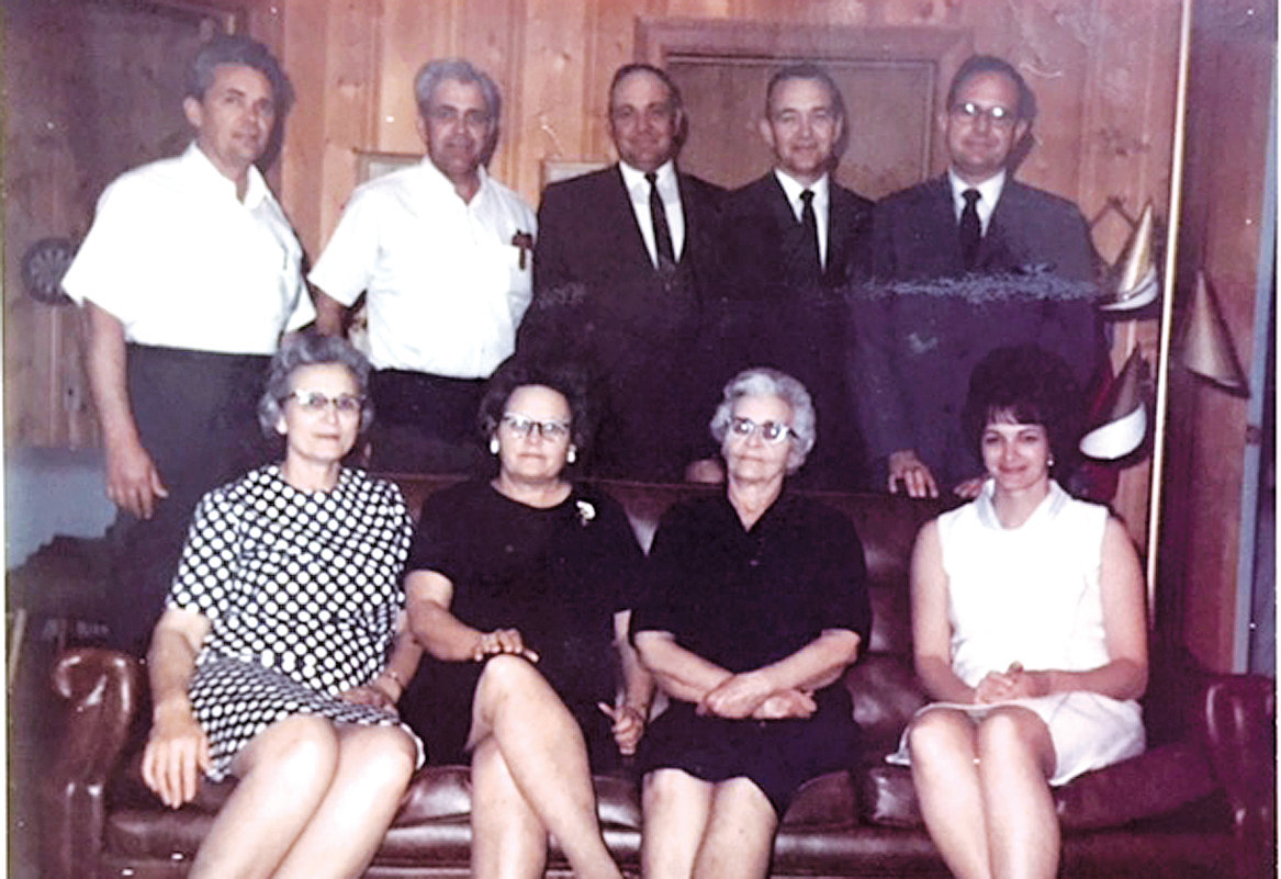 Wonder if this family picture was taken during the passing and funeral of M.E. Ennis, a retired farmer and merchant? Sons, Clyde, Warren, Charles, Earl and Shelton are standing, from left, and seated are daughters, Edna Ennis, Helen Dixon, Minnie Lee Ennis (mother) and Sue Bennett.