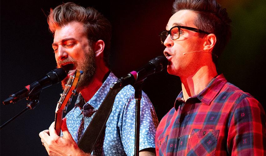 Rhett McLaughlin, left, and Link Neal, known throughout the country as Rhett & Link, will perform at the North Carolina State Fair tonight.
