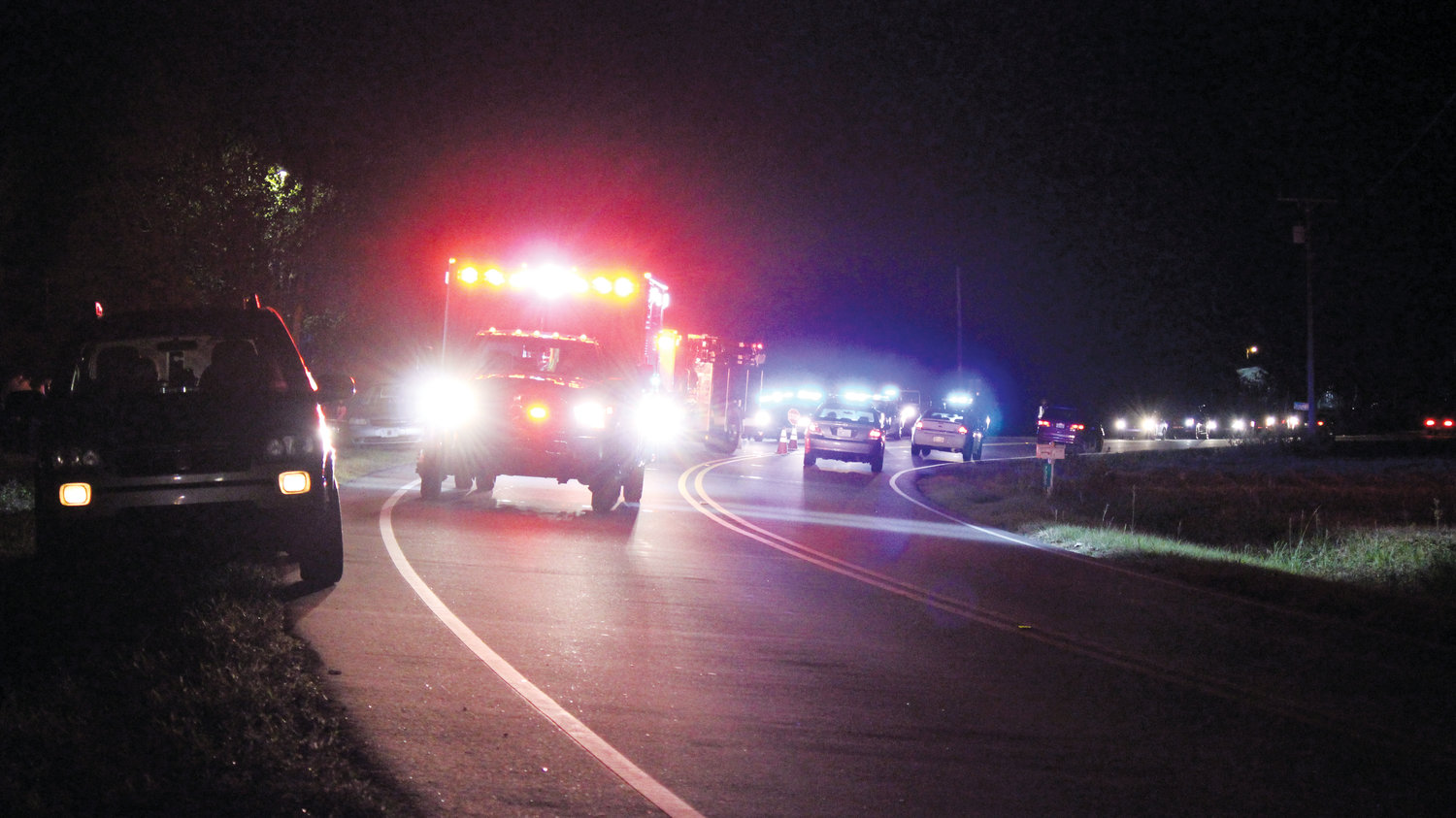 First responders were called to the scene of a one-vehicle crash involving a motorcycle Wednesday night near Bunnlevel. The crash took place on U.S. 401 near McLean Chapel Road around 6 p.m. The rider, a soldier set to be deployed today, succumbed to his injuries at the scene.