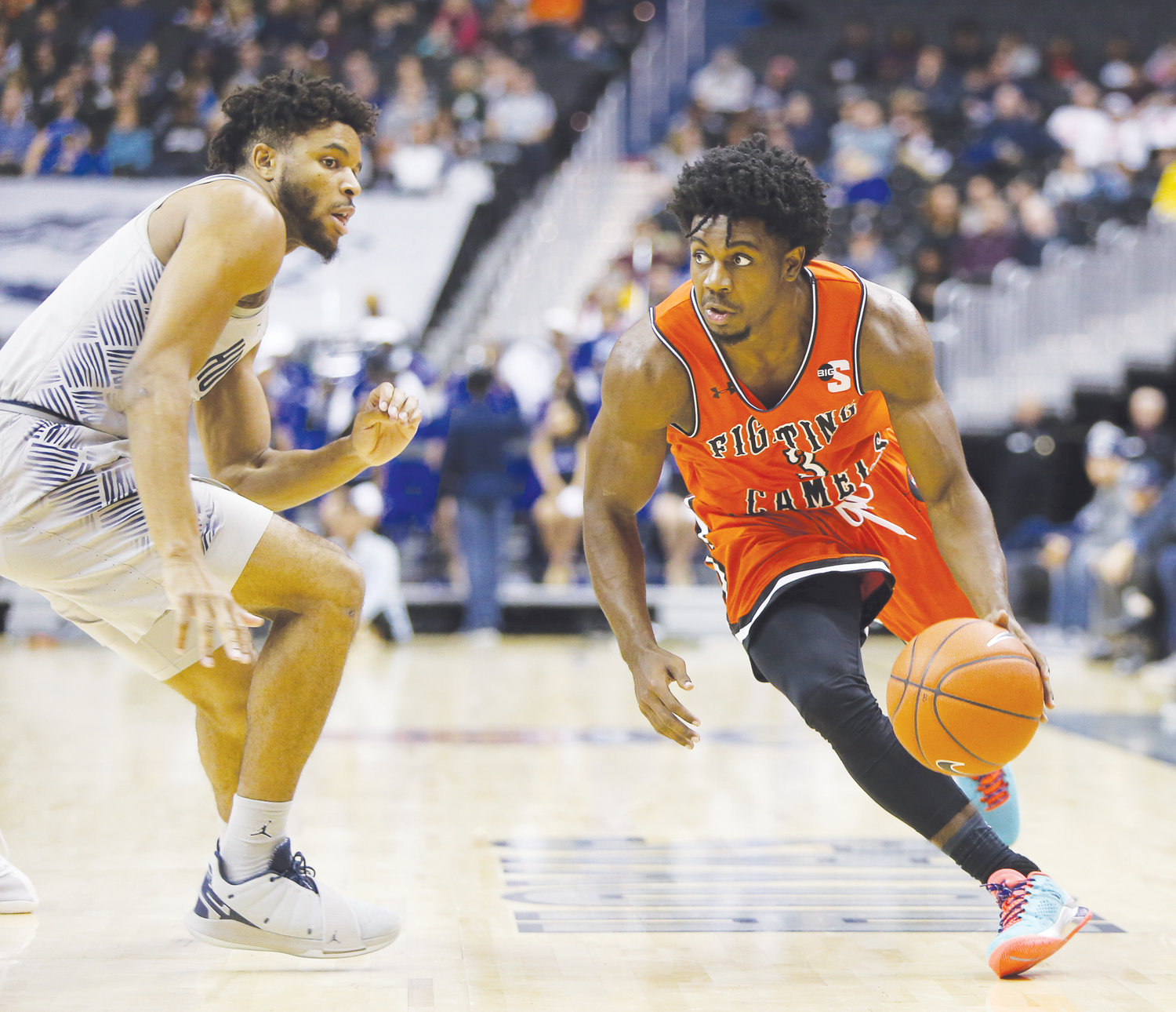 947dfe7c301 Campbell falls at Georgetown 93-85 despite Clemons' 45-point outburst | The  Daily Record