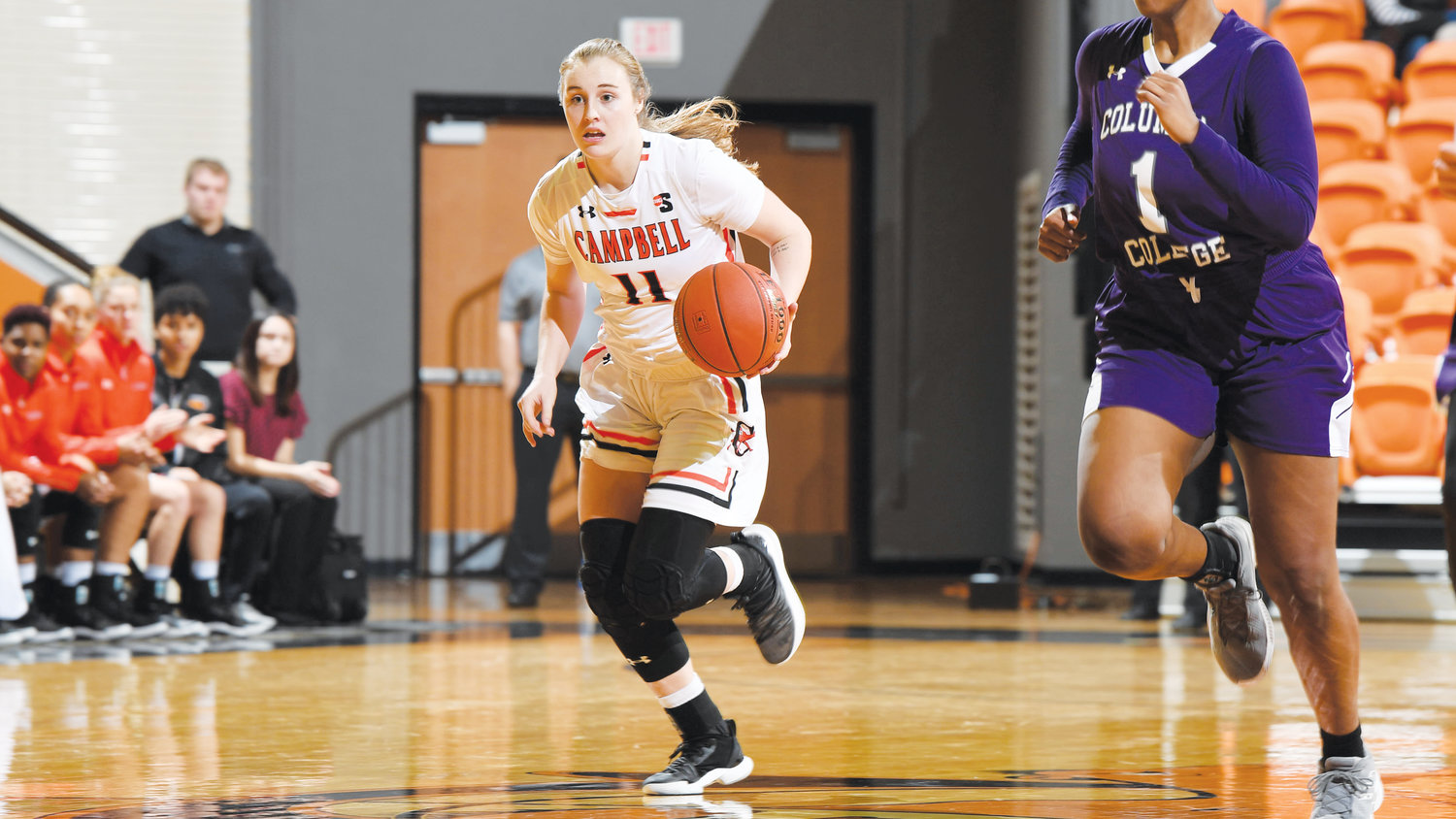 Campbell University's Shy Tuelle reached 17 points Sunday. Tuelle's total is a career best for the freshman that included a 5-for-9 effort beyond the arc.
