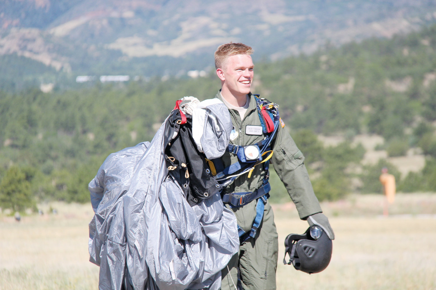 Caleb Ferguson of Holly Springs  is the grandson of Dunn residents Gale and Jane Tart. He is a second-year cadet in the U.S. Air Force Academy in Colorado Springs and has become a champion parachutist. He wants to be a pilot like his grandfather, but has taken it to new heights.
