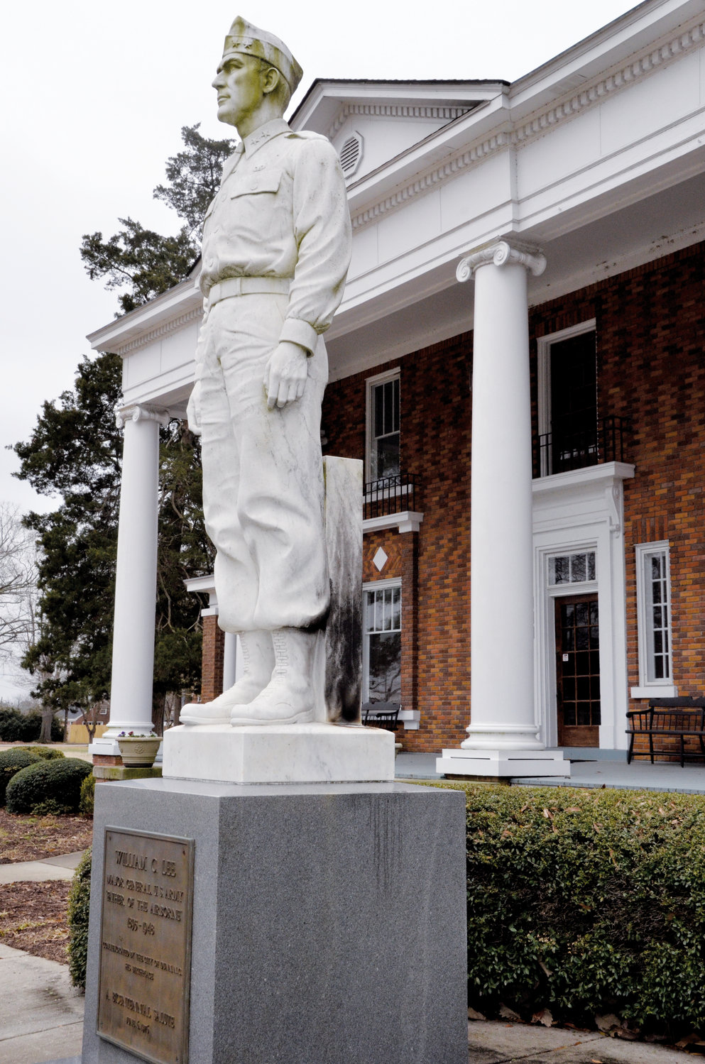 The statue of Gen. William C. Lee, the Dunn native who is considered to be the 'Father of the Airborne' was vandalized last week. Vandals attempted to set the statue on fire. According to William C. Lee Airborne Museum curator Mark Johnson, plans are to repair the statue.