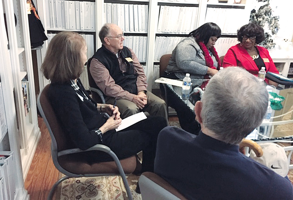 The first 'Let's Talk' session at the Coats Museum was a great experience. So many memories and lots of sharing. Pictured here are a few who were there on Feb. 23. Pictured are Kenneth Keene (with his back to the camera), Doris J. Nolan, Ralph Denning, Cora Dykes and her aunt, Peggy Robinson.