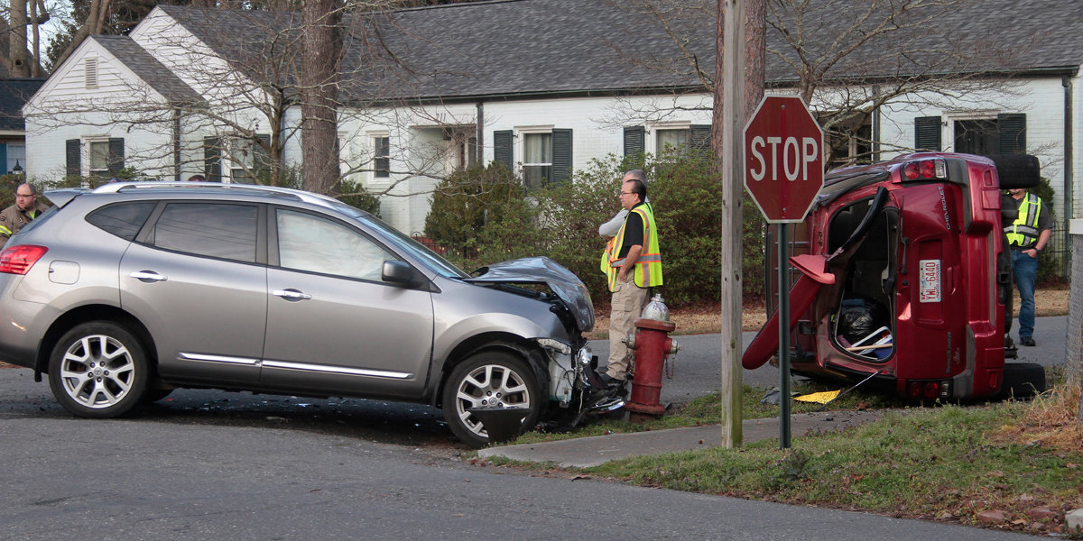Mount Olive firefighters worked the scene of a motor vehicle crash early this morning.
