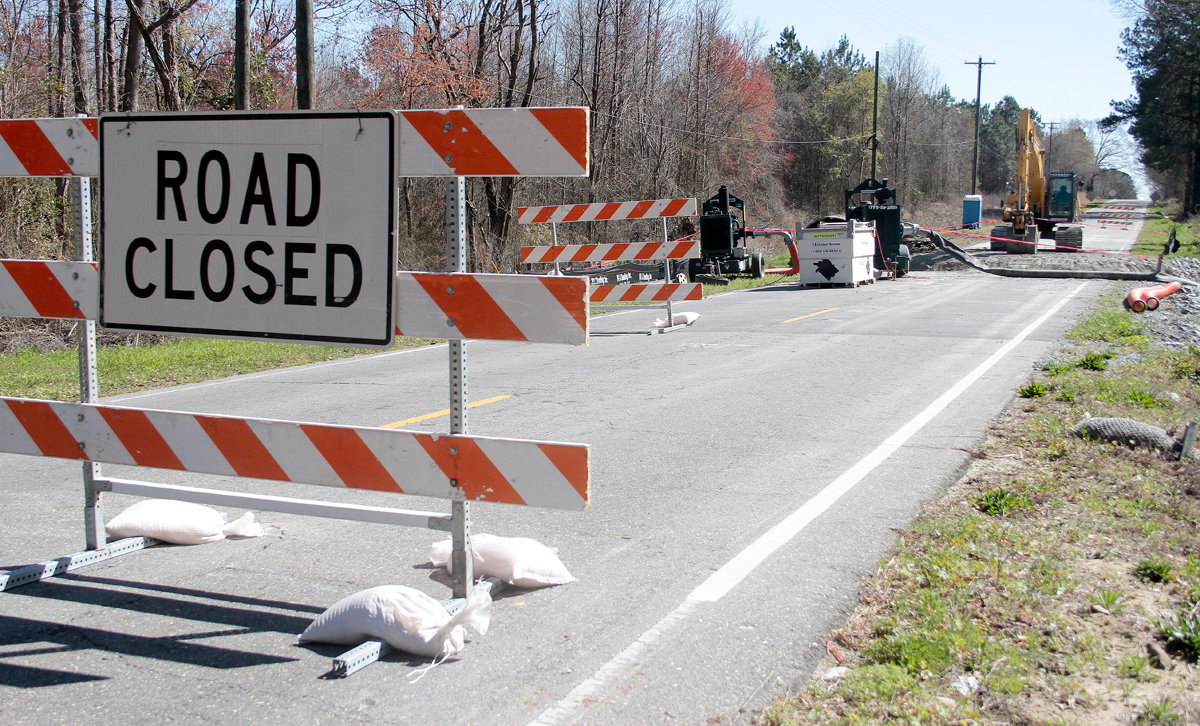 There is no indication yet as to how long the road will be closed due to the construction.