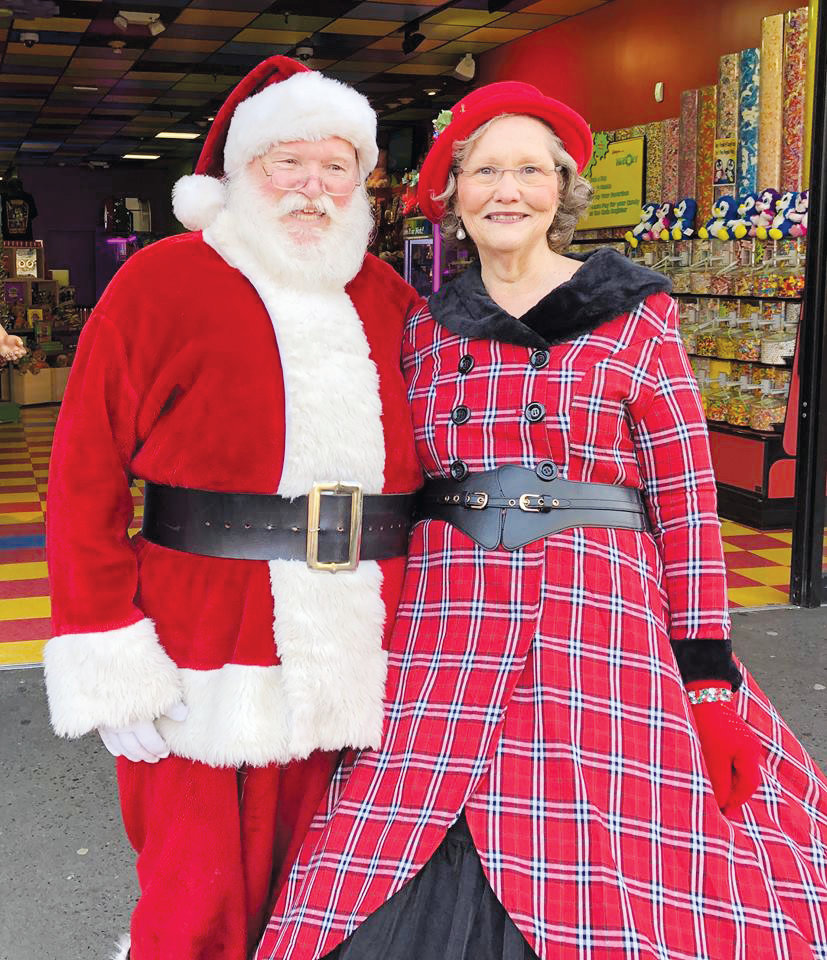 Mr. and Mrs. Santa Claus, also known as Jesse and Debbie Ferrell Cann, are shown at the recent Santa Claus Family Reunion in Tennessee. The couple lives in Angier.