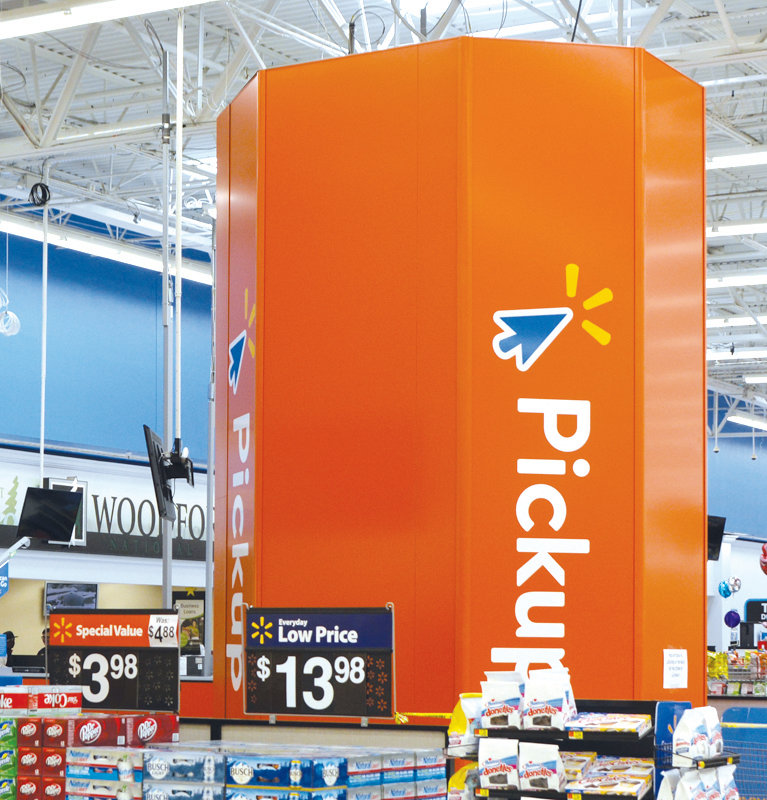 The Wal Mart store in Erwin now offers grocery pick ups for customers who call ahead. The service is offered at other stores in the area.