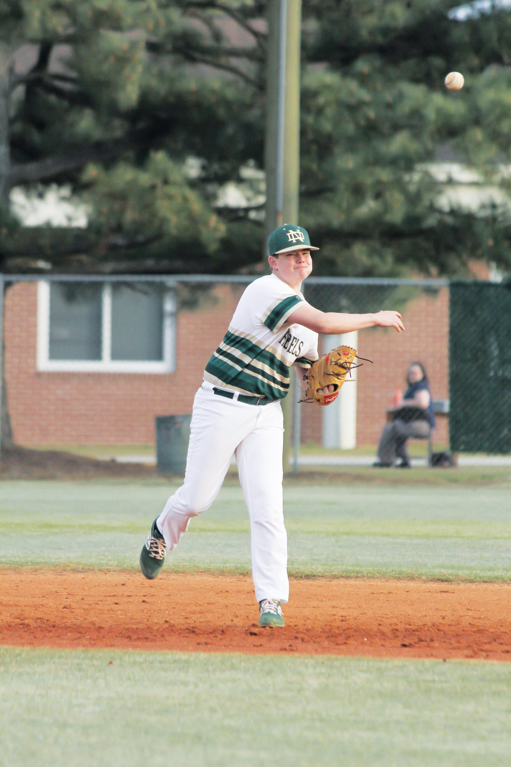 Gavin Lee throws to first base during North Duplin's 8-0 win against Neuse Charter on Thursday.