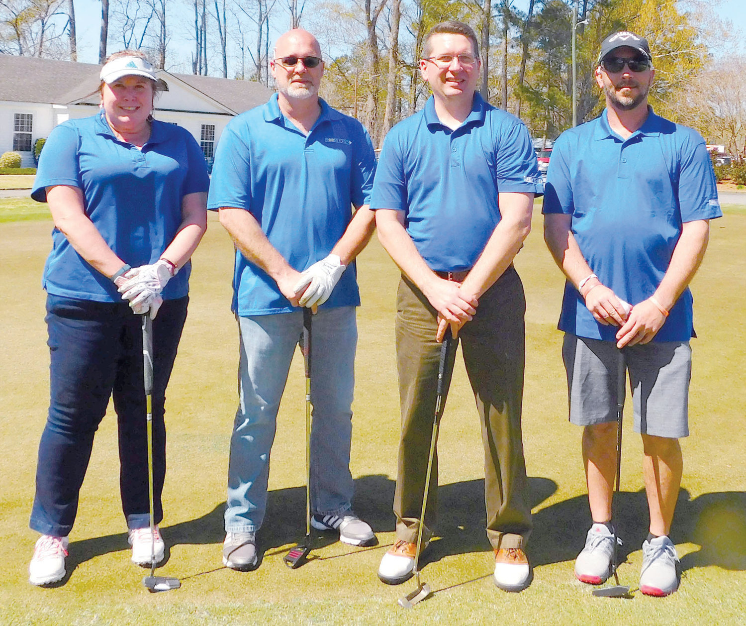 Members of the second flight third-place team in the sixth Central Carolina Community College Foundation Harnett Golf Classic were Caroline Rary, Steve Cook, Tyler Taylor and Paul Piatkowski.