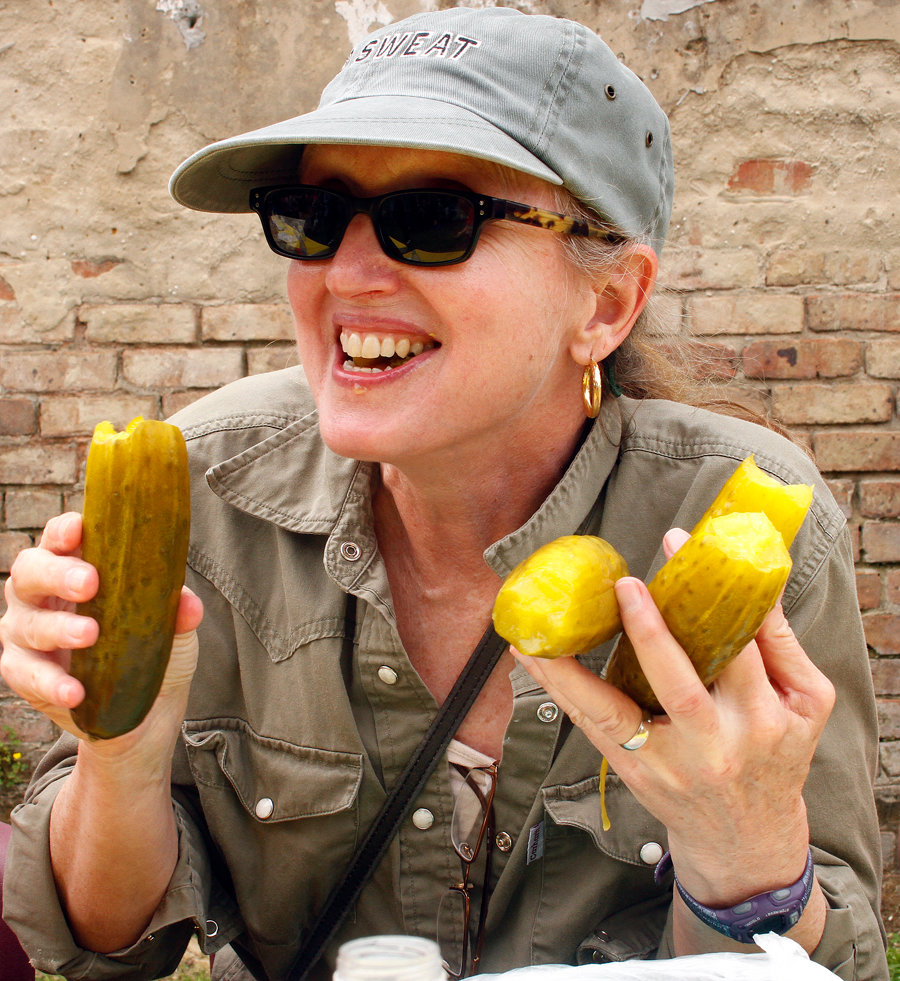 Jamea Lunsey try her luck during 