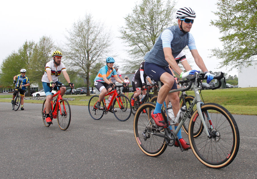 Despite the chance of rain Saturday morning, 113 bike riders showed up to take part in the Tour de Pickle Bike ride of 
