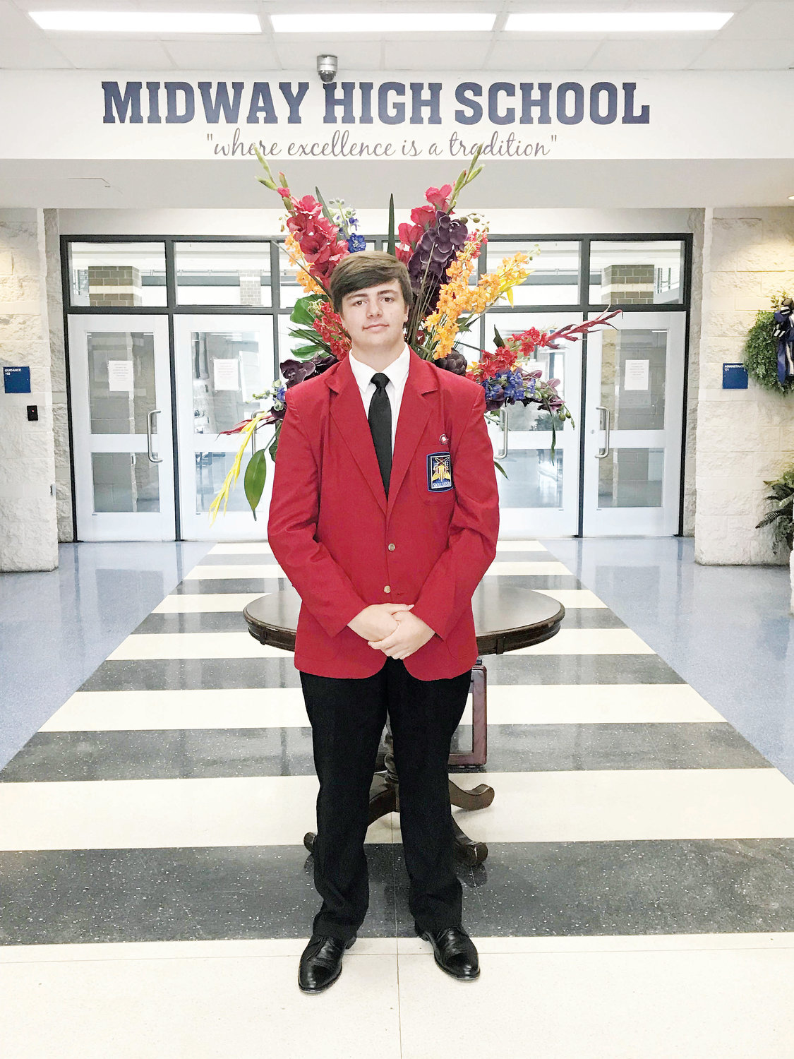 Midway High School student Justin Edgerton was chosen to serve as a SkillsUSA North Carolina state officer.