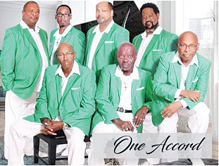Pictured here are members of the gospel singing group, One Accord.