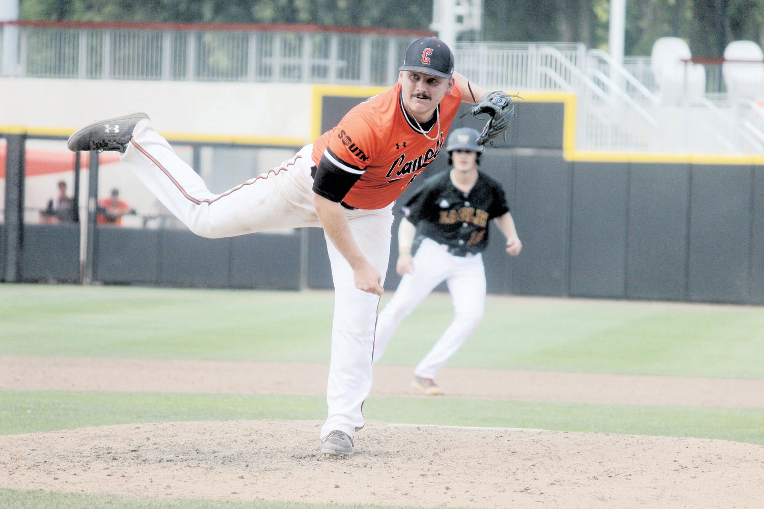 Tyson Messer was selected in the ninth round by the Chicago White Sox. The Harnett Central alumnus finished his Campbell career tied for fourth all time in saves (14).