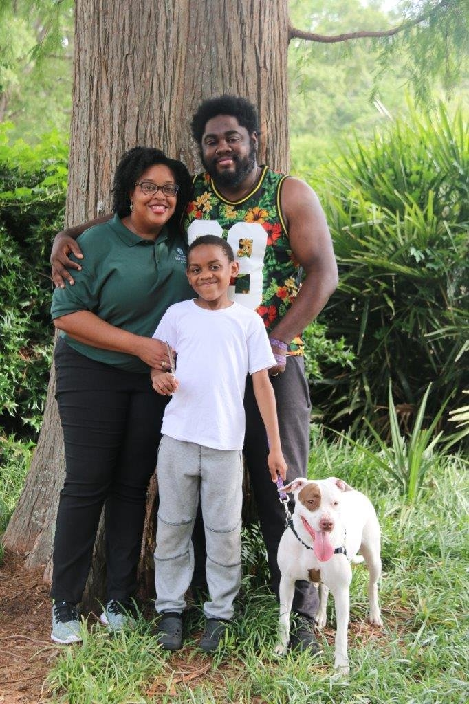 Cecelia Hoffler is pictured with her husband, Devin, and their son, Malachi.