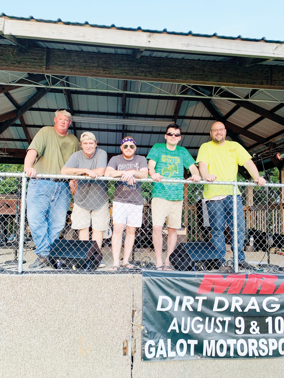 Local five-piece band The Aviators will play a variety of music from classic rock to country Saturday for the Downtown Summer Explosion in Dunn. Band members include, from left, Kevin Hinson, John Scott McKay, Wade Hodges, David Morris and James Brian Mason.