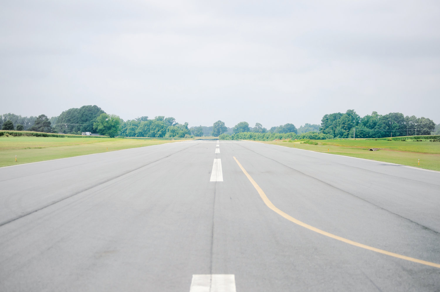 The Mount Olive Municipal Airport runway is shown here on Monday, July 8, 2019. Changes will be coming to the runway this year.